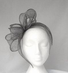 Silver Grey Ellie Loop & Leaf Fascinator / Headpiece - Weddings, Mother of the Bride, Ascot Ladies Day, Races