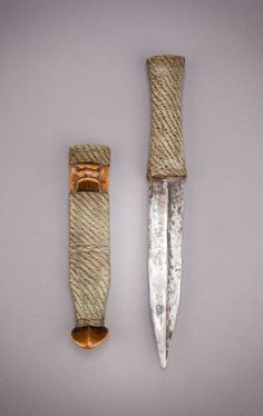 Africa   Prestige knife with wirework from the Shona people of Zimbabwe   Late 19th or early 20th century
