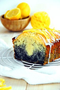 Mohn Zitronenkuchen - Backen, Schürzenfräulein, Rezept Sweet Tooth, Treats, Cooking, Desserts, Baking, Pirate Woman, Poppy, Breads, Food Food
