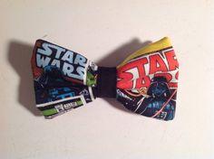 bow tie handmade mens made of fabric with Star Wars Darth Vader by SusanJWilsonTiesPlus Star Wars Darth, Darth Vader, Dapper Day Disneyland, Star Wars Fabric, Fabric Bows, Tie, Band, Stars, Unique Jewelry