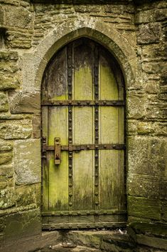 A door at Tintern Abbey in Wales.