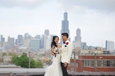 Amazing rooftop city views. Wedding Photographer: Angel Eyes Photography.