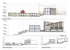 Portafolio Maria Camila Arango on Behance Architecture Portfolio Layout, Architecture Presentation Board, Revit Architecture, Autocad, Adobe, Floor Plans, Behance, Design, Cob Loaf
