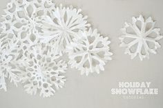 all white Xmas  l  sweet holiday snowflakes tutorial
