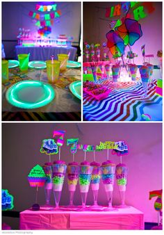 "Neon roller skate b'day bash "" moxiesox photography glow par Neon Birthday, 13th Birthday Parties, Birthday Party For Teens, 11th Birthday, Rockstar Birthday, Birthday Ideas, Glow In Dark Party, Glow Party, Disco Party"