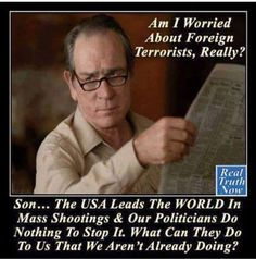 According to FBI statistics, nearly 90% of domestic terrorism is committed by non-Muslims, yet the only type of terrorism the Republicans and the media focuses on is that committed by Muslims. Even in that fight, they don't support stopping those on a terrorist watch list from being able to buy assault weapons to be able to kill large numbers of Americans in seconds, nor background checks for criminal records or mental illness, which might inconvenience someone. Their commitment underwhelms…