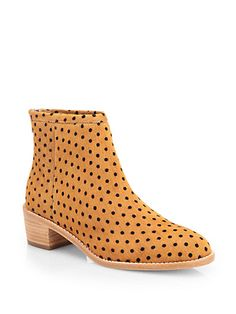 Loeffler Randall - Felix Polka Dot Calf Hair Ankle Boots - Saks.com
