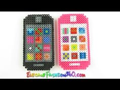 DIY Perler/Hama Beads Iphone 3D - How to Tutorial - YouTube