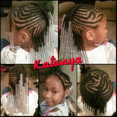 Outstanding Box Braids With Beads In Back Donut With Bow On Top Braid Bangs Short Hairstyles Gunalazisus