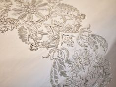 One Hyde Park Residence, London - Elicyon provided some exquisite advise for fabrics & upholstery in this very exclusive superbly designed apartment in London...  Exquisite Embroidery.