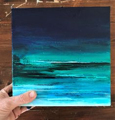 Unique canvas art display 27 Ideas for 2019 Small Paintings, Seascape Paintings, Art Paintings, Art Bleu, Abstract Wall Art, Painting Abstract, Painting Art, Turtle Painting, Blue Art