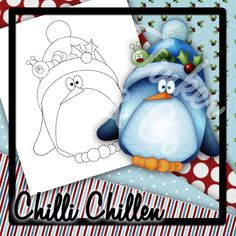 digital stamps free | TNCo Chilli Penguin, digital stamp, clip art and digital paper for ...