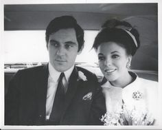 Joan Collins' wedding to Anthony Newley.
