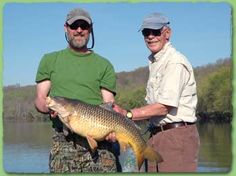 Wild Carp fishing is exceptional at Rockcliffe Farm Retreat and Lodge in central Virginia