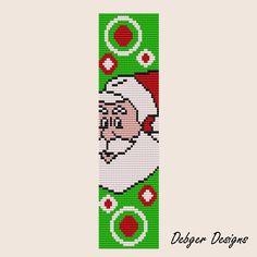 Father Christmas 2 - Loom Bracelet Cuff Pattern (SAVING buy 2 - 3rd free ). $6.50, via Etsy.