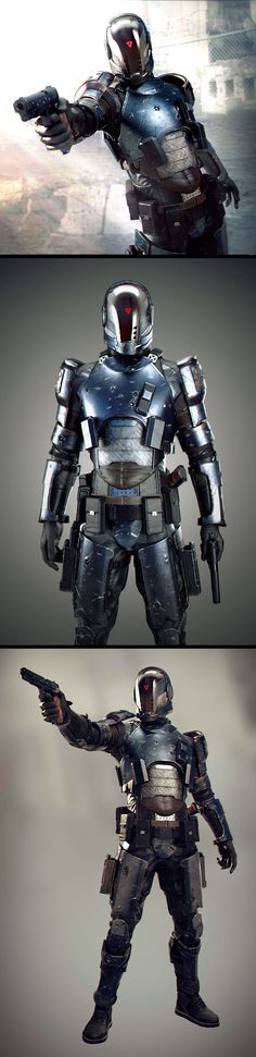 Gabriel - Last Man Standing by Marko Ivanovic Medieval Combat, Science Fiction, Rpg Star Wars, Rpg Cyberpunk, Armor Concept, Concept Art, Image 3d, Gato Anime, Suit Of Armor
