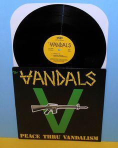 "The VANDALS peace thru vandalsim 12"" Record Vinyl , bad religion brett #punk"