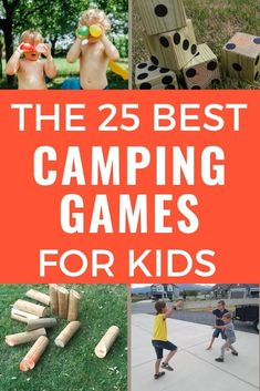 These are the best camping games for kids! Fun outdoor games kids love for your next family camping trip! Includes nature activities, night camping games, and family games that are fun for kids and adults. Plus camping games for tweens and teens. Choose your favorite kids' camping games before your next family campout! #campinggames #outdoorgames #kidsgames #familygames Outdoor Summer Activities, Outdoor Games For Kids, Nature Activities, Camping Activities, Family Camping Games, Family Games, Tween Games, Business For Kids, Kids Fun