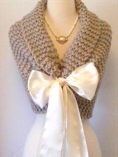 Wedding Shawl/ Bride Bolero / Bridal Shawl / by ElegantKnitting, $98.00
