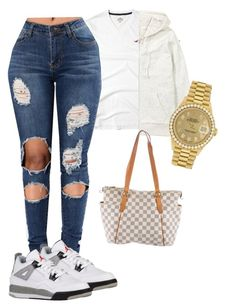 """i aint gettin mad im gettin rich on em !"" by iceey-n on Polyvore featuring Hollister Co., H&M, Louis Vuitton and Rolex"