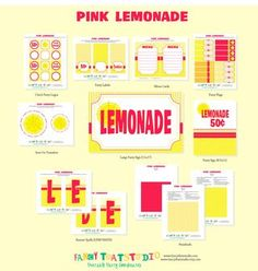 FREE Lemonade Stand Printables from Fancy That Studio