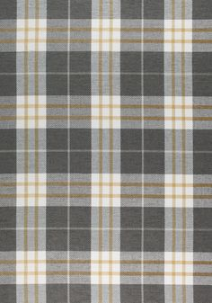 PERCIVAL PLAID, Charcoal and Yellow, W80079, Collection Woven 9: Plaids & Stripes from Thibaut