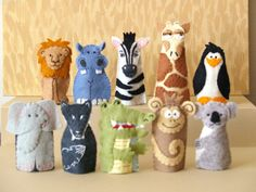 Zoo Animal Finger Puppets Choose 4 by raindropstops on Etsy, $30.00