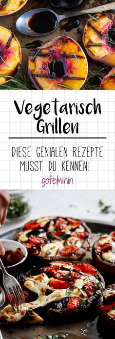 Vegetarisch grillen: Diese Rezepte sind mehr als bloße Beilagen! It does not always have to be meat for the perfect barbecue. We have for you incredibly delicious vegetarian alternatives to barbecue. Tasty Vegetarian, Vegetarian Barbecue, Barbecue Recipes, Grilling Recipes, Pork Recipes, Veggie Recipes, Healthy Recipes, Dishes Recipes, Meatless Recipes