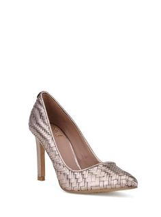 Timeless and flattering, we love this new version of the Catalina Pump featuring Elliott Lucca signature woven detail.