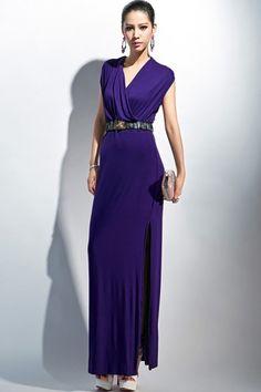 High Side Maxi Dress