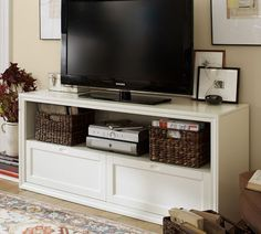 Winslow Media Stand with Drawers | Pottery Barn