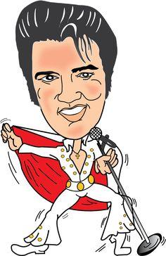 15 interesting Elvis Presley Cartoon Drawing | Elvis Presley