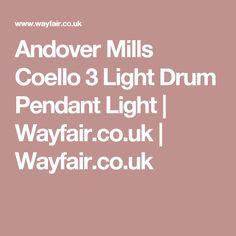 Andover Mills Coello 3 Light Drum Pendant Light | Wayfair.co.uk | Wayfair.co.uk