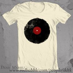 13 Vinyl Record T-Shirts Retro Grunge Vintage Music! by Denis Marsili's T-Shirt Designs, via Behance ~ Cool Ts for men