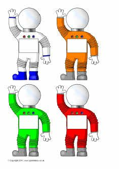 Pupil self-registration astronauts (SB4854) - SparkleBox