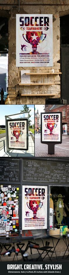 Soccer Tournament PSD Flyer  Template • Only available here ➝ http://graphicriver.net/item/soccer-tournament-flyer/16615108?ref=pxcr