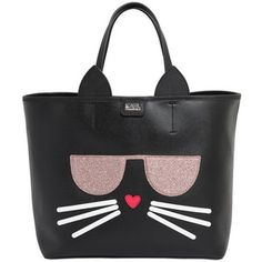 Karl Lagerfeld Women K Kocktail Cat Faux Leather Tote Bag