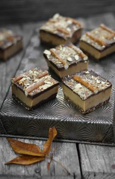Triple Decker Maple Peanut Butter Pretzel Fudge from @Heather Baird