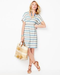 Easy V-Neck Knit Dress