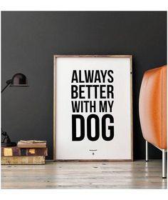 idée cadeau noël affiche design chien