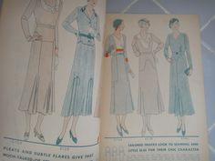 McCall Style News, December 1931 featuring McCall 6739 and 6736 on the left page, 6744, 6738 and 6740 on the right page