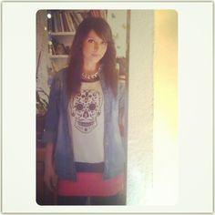 con una de mis camisetas de Calevera!