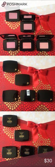 New! Set of 5 Travel Size Lancôme Blush - 4 colors All New! Travel size Lancôme blush. Each is 0.088 oz (2.5g). Set of 5 travel size blush. Aplum - 2 qty Rose Fresque - 1 qty Blushing Tresor - 1 qty Sheer Amourose - 1 qty Lancome Makeup Blush