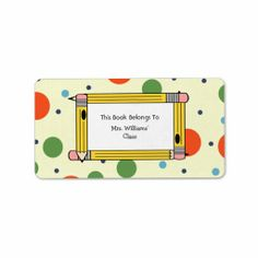 =>>Save on          	Teacher Bookplate - Polka Dots & Yellow Pencils Custom Address Labels           	Teacher Bookplate - Polka Dots & Yellow Pencils Custom Address Labels today price drop and special promotion. Get The best buyThis Deals          	Teacher Bookplate - Polka Dots & ...Cleck Hot Deals >>> http://www.zazzle.com/teacher_bookplate_polka_dots_yellow_pencils_label-106904462728831055?rf=238627982471231924&zbar=1&tc=terrest