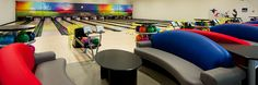 There are comfortable seating areas with luxurious sofas for every lane. #Bowling #WestSussex #FamilyFun #KidsFun