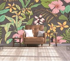 Flower Wallpaper Wall Mural Floral Wallpapers Mural Art Wall Decal Printed Photo Wall Papers Home Wall Decor Wall Painting Living Room, 3d Wallpaper Living Room, Wall Wallpaper, Trendy Wallpaper, Custom Wallpaper, Floral Wallpapers, 3d Wallpaper Painting, Flower Wallpaper, 3d Wall Art