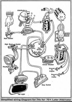 need 6 pole ignition switch wiring diagram or description harley rh pinterest com Network Wiring Diagrams Wiring-Diagram 1969 Le Mans