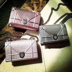 Christian Dior Diorama Perforated Calfskin Mini Bag