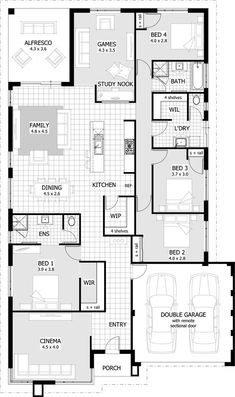 Luxury holiday small villa 4 Bedrooms, 2 Baths, and Cinema hall Best House Plans, Dream House Plans, Modern House Plans, Modern House Design, House Floor Plans, Home Design Floor Plans, Plan Design, Small Villa, Apartment Plans