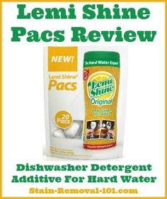 Here's my review of Lemi Shine Pacs, the dishwasher detergent additive for hard water, which helps remove film, spots and build up.